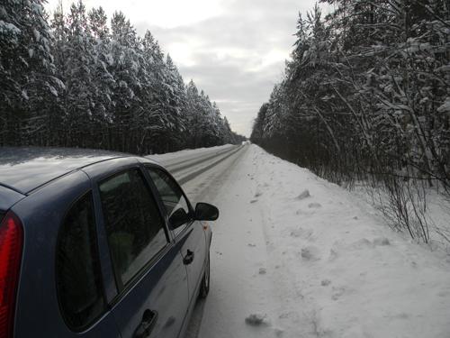 Лада Калина, зимой!